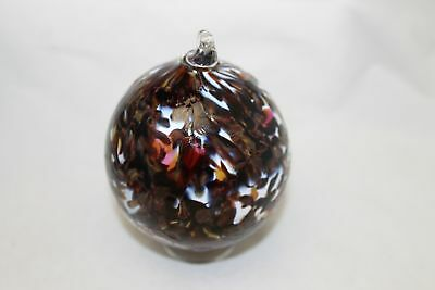 Chocolate and Creeam Speckled Hand Blown Glass Christmas Ornament Collector Item
