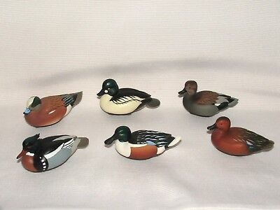 6 Ducks Unlimited Miniature Decoys Jett Brunet 2006- 2008- 2010- 2013- 2015 2016