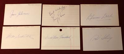 Huge Lot 60 Hockey HOF Signed Index Cards Beliveau Mahovlich Mikita Esposito ++!
