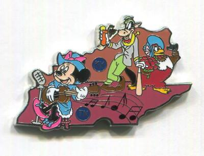 Tennessee TN Kentucky KY 2018 American Adventure Map Limited Mystery Disney Pin