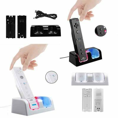 Dual Charging Dock Station for Nintendo Wii Remote Control Gaming Controller New