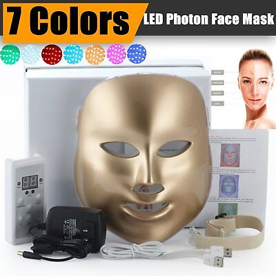 BEST Therapy Photon LED Face Facial Mask 7Colors Light Skin Care Rejuvenation MX