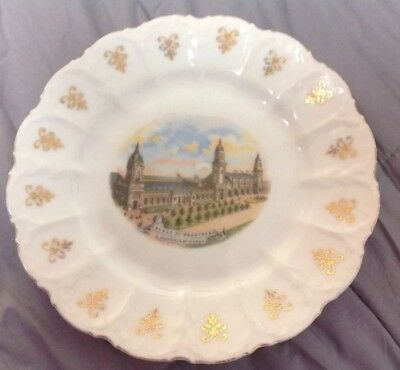 1904 Worlds Fair Palace Of Machinery St Louis Souvenir China Plate
