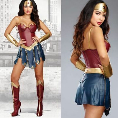 NEW Wonder Woman Cosplay Adult Justice League Super Hero for Halloween Costume