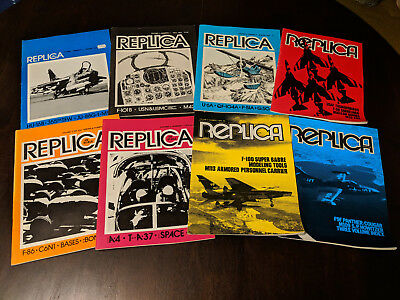 Replica in Scale LOT of Vintage Collectible 1970's Aviation Magazine