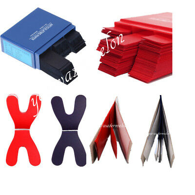 120/200/300x Articulating Paper Dental Horseshoe Rectangle Thick Strips Blue/Red