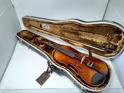 Josef Lorenz LUBY Schonbach violin with bow and hard shell case Czechoslovakia