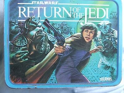 Return of the Jedi Metal Lunch Box and Red Thermos