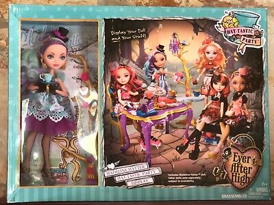 NIB Ever After High Hat-Tastic Madeline Hatter Doll and Party Playset Toy SEALED