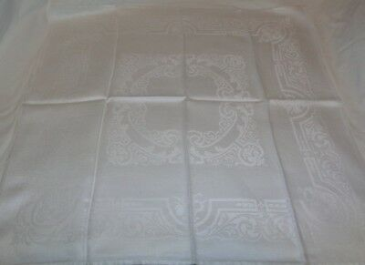 """10 Exquisite Assorted Lot Linen Damask White Napkins  22""""- 24"""""""