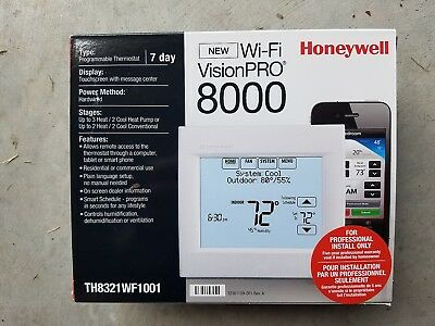 Brand New Honeywell Wi-Fi Touch Screen Thermostat 8000 Th8321Wf1001 Programmable