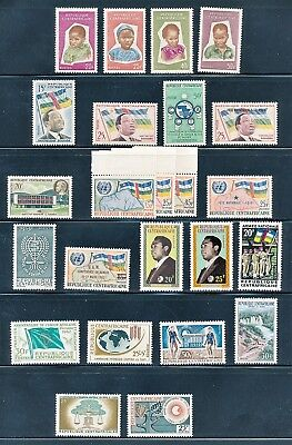 Central Africa 1959-1964  Lot Of 24 Stamps Flags Children & Others All Mnh