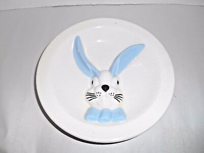 Vintage / Antique Child's Big Eared Bunny Rabbit Bowl / Divided Plate