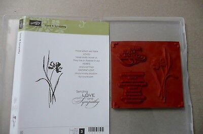 Stampin' Up! Love & Sympathy Stamp Set, retired, used