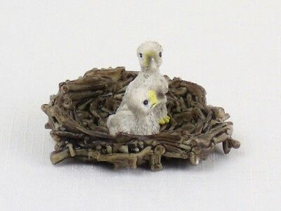 SCHLEICH Animal Replica EAGLE'S NEST Baby Eagle Chicks Figure RETIRED