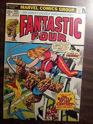 Fantastic Four #133 (Apr 1973, Marvel) Thundra vs Thing GD -VG 3.0