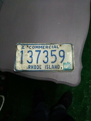 RHODE ISLAND commercial blue anchor license plate 137359