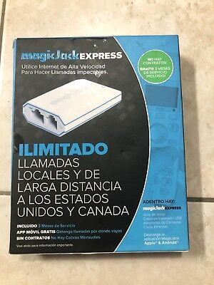 Magic Jack EXPRESS Digital Phone service + 3 Month unlimited local/long distance