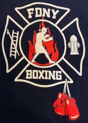 FDNY NYC Fire Department New York City T-Shirt New Boxing Club