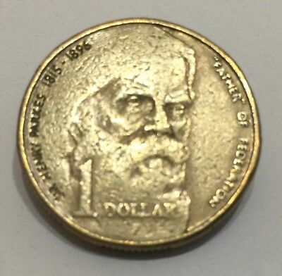 1996 Dollar $1 Australian Coin Sir Henry Parks Father of Federation