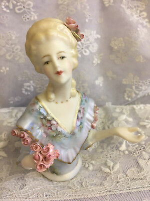 """Porcelain Half Doll - """"Willow"""" 10 cms"""