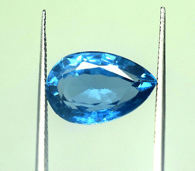7.50 Ct Natural Blue Color Transparent Aquamarine Pear Cut Ggl Certified