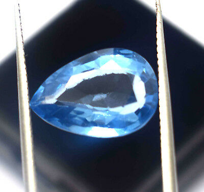5.00 Ct Natural Blue Color Transparent Aquamarine Pear Cut Ggl Certified