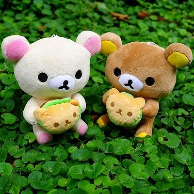 "Cute 2PCS Japan San-x Rilakkuma Relax Bear 7.87"" Plush Doll Christmas Party Toy"