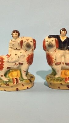 Staffordshire Dog with Boy and Girl
