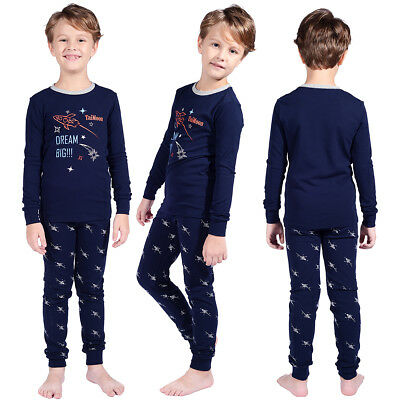2 pcs Kids Boy Children Christmas Nightwear Sleepwear Pj's Pajamas Outfits Set