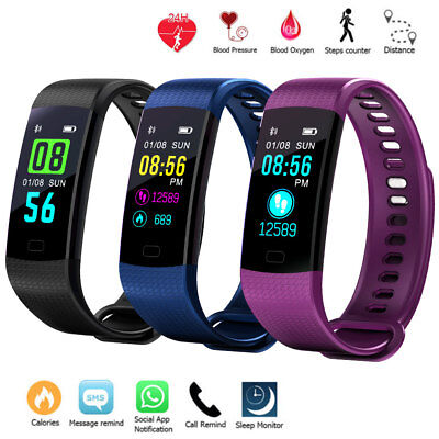 Sports Waterproof Fitness Activity Tracker Smart Watch With Heart Rate Monitor ^