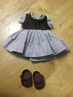 "1950s Vintage Doll clothes Brown DRESS outfit Muffie 8"" Vogue Ginny Shoes"