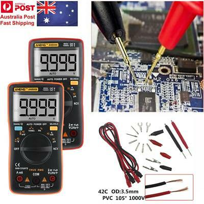 AU! Electrical LCD Digital Clamp Meter Multimeter RMS AC/DC OHM Multi Tester