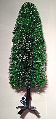 "NWT 21"" Retro MCM Bottle Brush Xmas Tabletop Mini Tree Snow Holidays Home Decor"