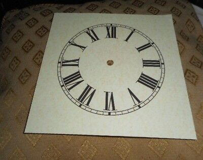 "Mantle/Shelf Paper Clock Dial- 6"" M/T - MATT ANTIQUE CREAM - Face/Parts/Spares"