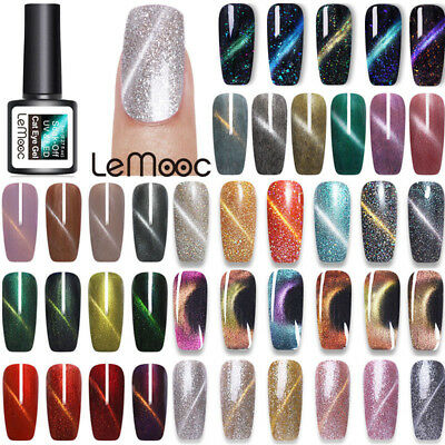 LEMOOC 8ml Cat Eye UV Gel Magnetic Chameleon Nail Art Soak off UV LED Gel Polish