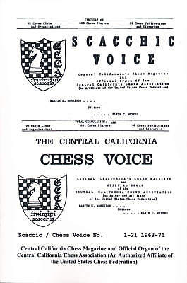 Wholesale Chess Scaccic / Chess Voice No. 1-21 - 1968-1971 - Elwin C. Meyers,Ker