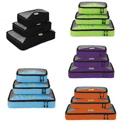 Organizer Cubes Clothes Storage Bags Luggage Set Pouch Waterproof Travel Packing