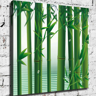 "12""x12""Bamboo group HD Canvas prints Painting Home Decor Picture Wall art Poster"