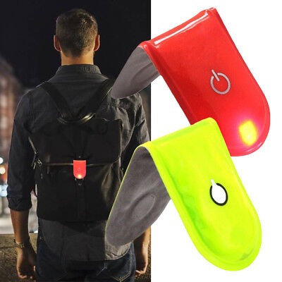 LED Safety Light Reflective Magnet Clip On Strobe Running Bike Cycling Reliable
