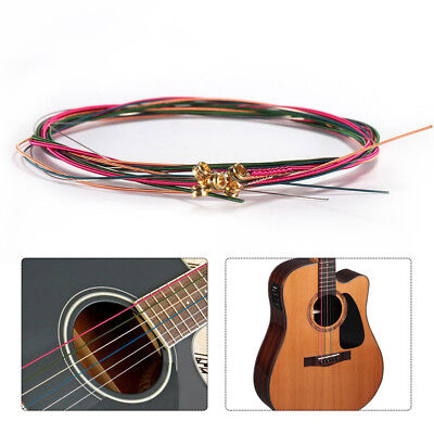 6PCS Guitar Strings  Colorful Steel Strings Durable Replacement Acoustic Set