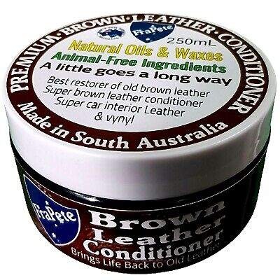 Brown Leather Conditioner Leather Restore & Protector Balm  by FraPete 245 mils