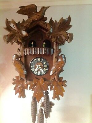German Musical Cuckoo Clock~ With 2 Tunes ~ Good Working Order~