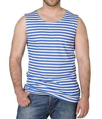 Russian Military Striped Tank Top Sleeveless Light Blue Shirt Telnyashka