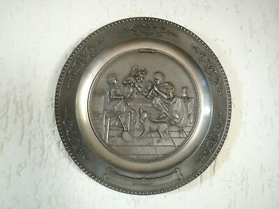 Vintage Pewter German Plate