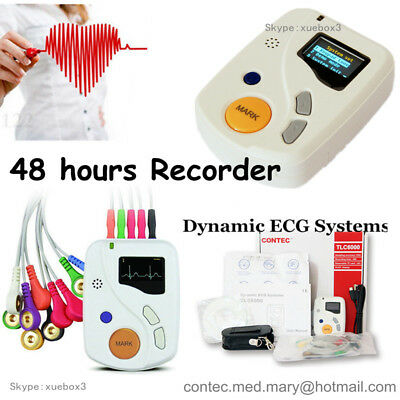 CE ,48 Hours Dynamic ECG Holter 12 Channel EKG Machine USB Software OLED NEW hot