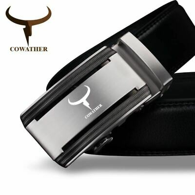 Men's Genuine Leather Belts for Men High Quality Alloy Automatic Buckle Belt
