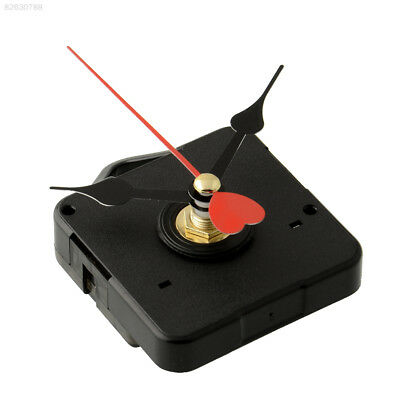 2ED1 Goodly Replacement Clock Movement with Hook Red Metal Heart Hands DIY*
