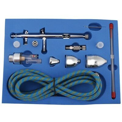 0.2 0.3 0.5mm Dual-Action Spray Airbrush Kit with 3 Cups for Cake Nail Art Model