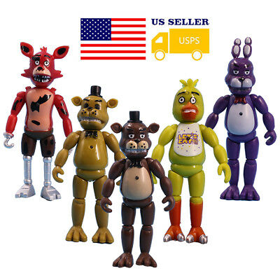"""5Pcs Five Nights At Freddy's FANAF 6"""" Action Figure Doll Game Toys Gift US"""